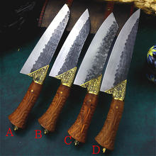 Нож мясника кованый вручную маленький нож для протяжки костей