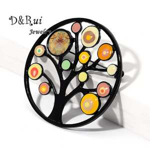 Plant Jewelry Brooches Clothing Badge-Pin-Accessories Pins Tree-Of-Life Girls Large Fashion