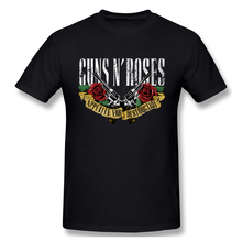 Guns N Roses Rock Music T-shirt For Men Plus Size Cotton Team Tee Shirt 3xl Camiseta