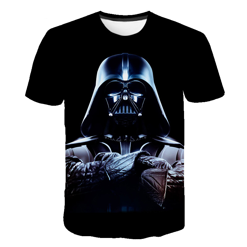 Hot Sell 3D Star Wars Children's Clothing T-shirt Mandalorian Clothes Kids Clothes Harajuku Anime Movie Graphic Male Street Tops