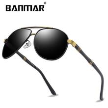 BANMAR BRAND DESIGN Sunglasses Men Driving Male Polarized Glasses Classic Vintage Square Frame Eyewear Oculos Gafas UV400