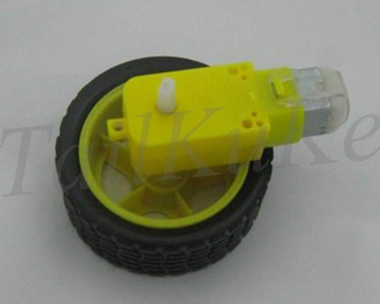 Бесплатная доставка 10 компл.. умный автомобиль робот колесо с 3 В -В 6 В DC шестерни двигатель (один axie)
