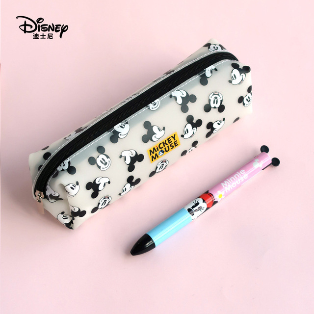 Disney Mickey Mouse Portable Pen Pencil Cartoon Bag Storage Waterproof Boys And Children Student Gift
