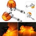 2pcs Motorcycle Turn Signal Light Daytime Running Light Motorcycle Lamp Source Waterproof For Honda C70 CT70 CT90 XL100 CB350