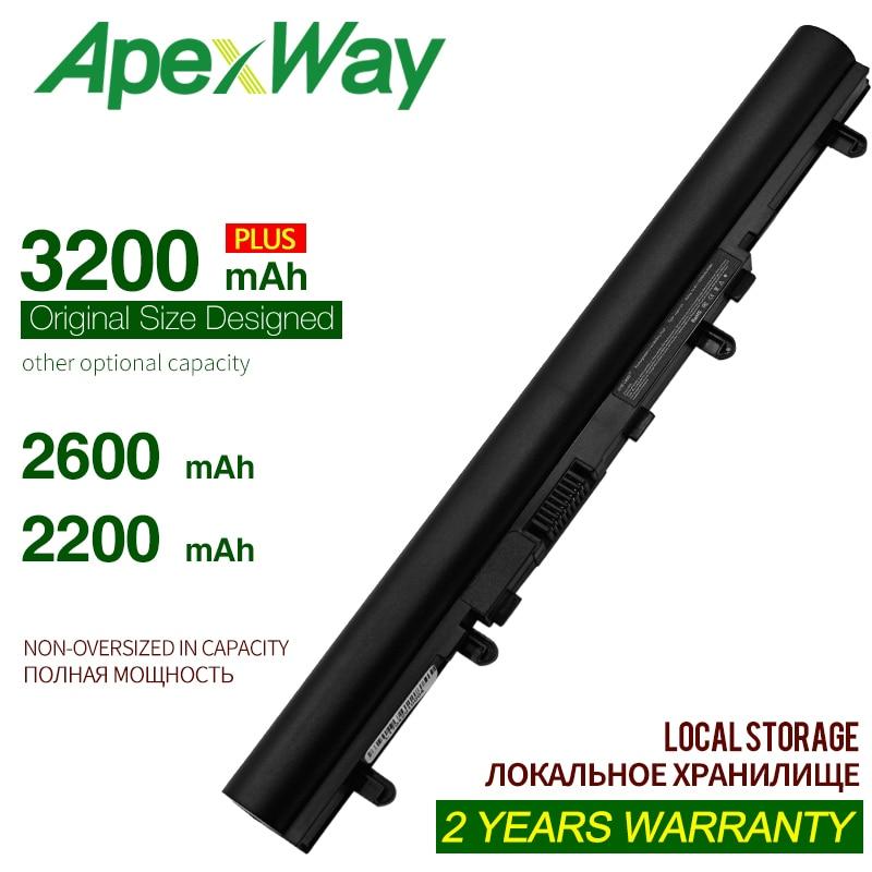 ApexWay 14.4V 4CELL Battery AL12A32 For Acer Aspire V5 V5-431 V5-471 V5-531 V5-551 V5-571 4ICR17/65  Battery For Acer Aspire V5