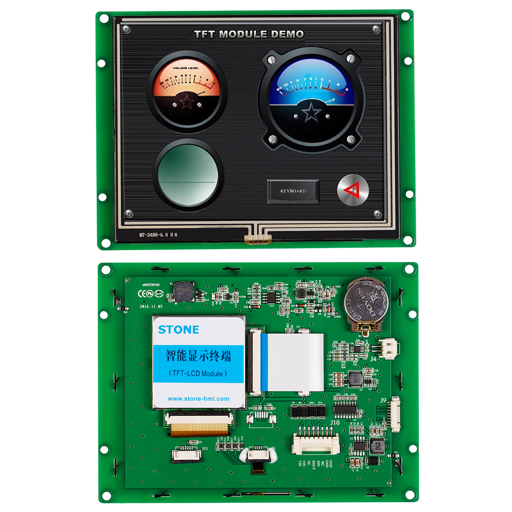 """5.6"""" LCD Display Screen Controller RS485 UART And RGB Display With 16bit Color"""