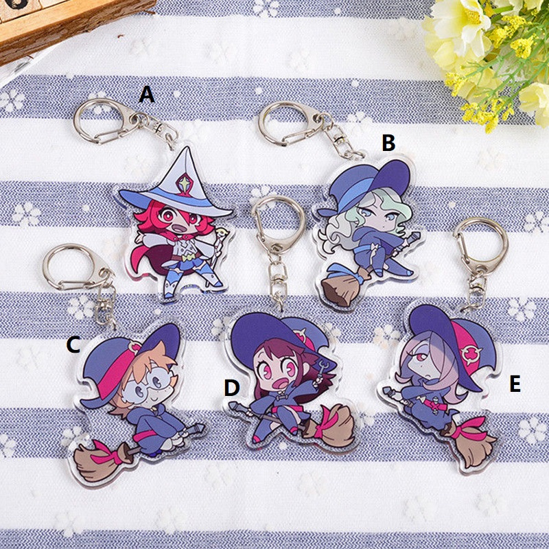 Little Witch Academia Keychain Strap Acrylic Anime Hanging Keyring Key Chain