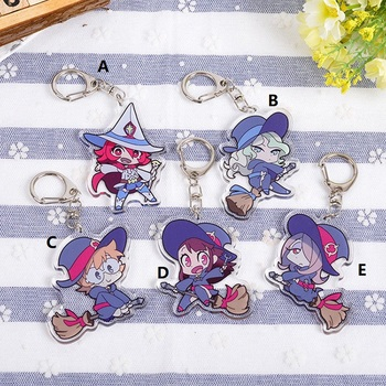Little Witch Academia Keychain Strap Acrylic Anime Hanging Keyring Key Chain - sale item Costumes & Accessories