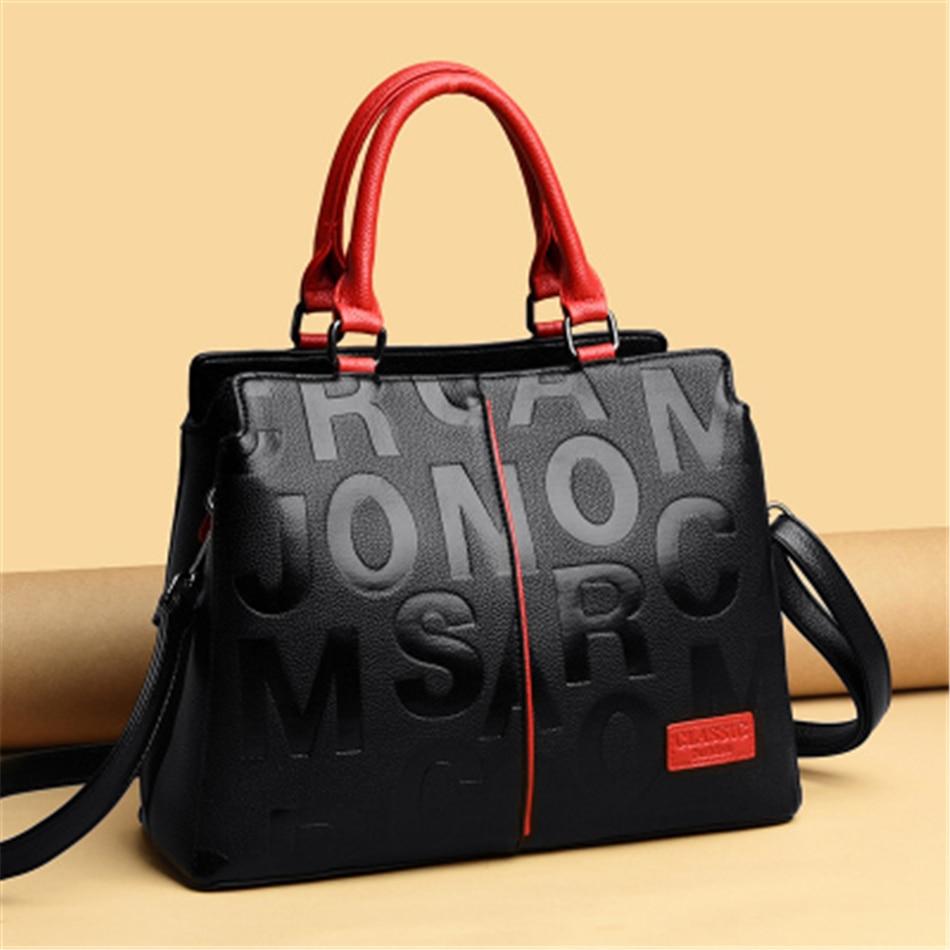 2 Layers Casual Sac 2021 Ladies Hand Bag Letter Leather Women Handbag Luxury Designer Totes Women Bag Large Capacity Brand Bags