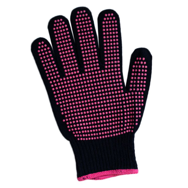 A 300 Centigrade Heat Resistant BBQ Gloves Cotton Silicone Non-Slip Hair Styling