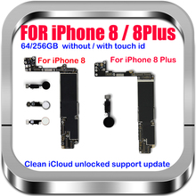 LTE 4G per IPhone 8 Plus scheda madre sbloccata con/NO Touch ID 100% scheda logica originale buona scheda madre testata sistema di aggiornamento iOS