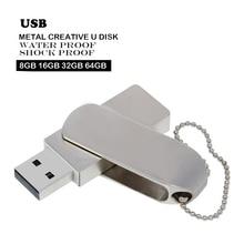 Metall Usb Flash Drive Usb-Stick 64 Gb 32 Gb 16 Gb 8 Gb 4 Gb Pen Drive Mini Usb Stick flash Usb Memory Stick Flash Disk Logo Geschenk