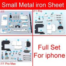 סט מלא פנימי קטן PCB מתכת ברזל אביזרי חלקים עבור iphone 11 פרו מקס קטן מחזיק סוגר מגן צלחת ערכת טלפון חלקי