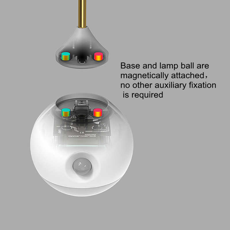 Creativo inteligente IR Sensor de movimiento del cuerpo LED de inducción de luz nocturna activada luz de pared magnética Simple y elegante lámpara de luz