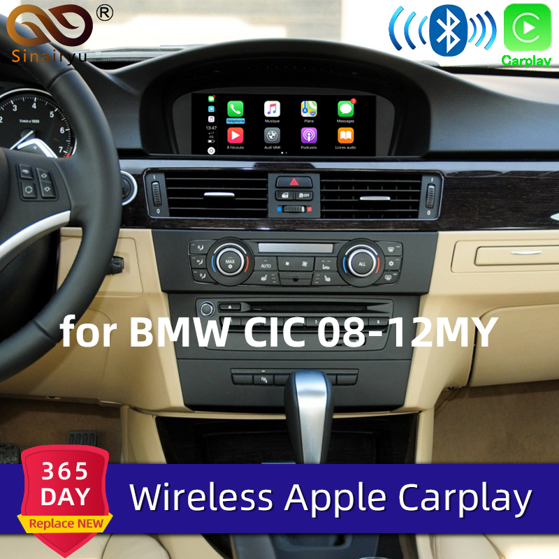 Sinairyu WIFI Wireless Apple Carplay Car Play for BMW CIC <font><b>1</b></font> 3 5 6 7 Series E81 F60 E90 F07 Android Mirror Support Rear Front CM image
