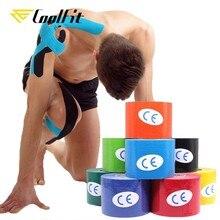 CoolFit-Cinta de kinesiología atlética de 5 tamaños, envoltura autoadherente para recuperación, tapado de músculo médico, alivio del dolor, Protector de rodilleras