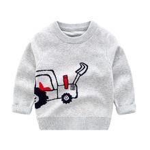 Детский свитер; коллекция года; сезон осень-зима; стиль; корейский стиль; пуловер с круглым вырезом и рисунком для мальчиков; свитер; детская одежда