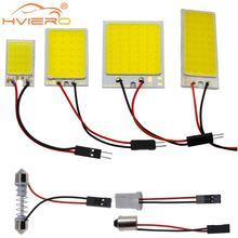 Белый, красный, синий T10 W5w Cob 24SMD 36SMD Автомобильный светодиодный панельный светильник для автомобиля, лампа для чтения в салоне автомобиля, купольная гирлянда BA9S DC 12v