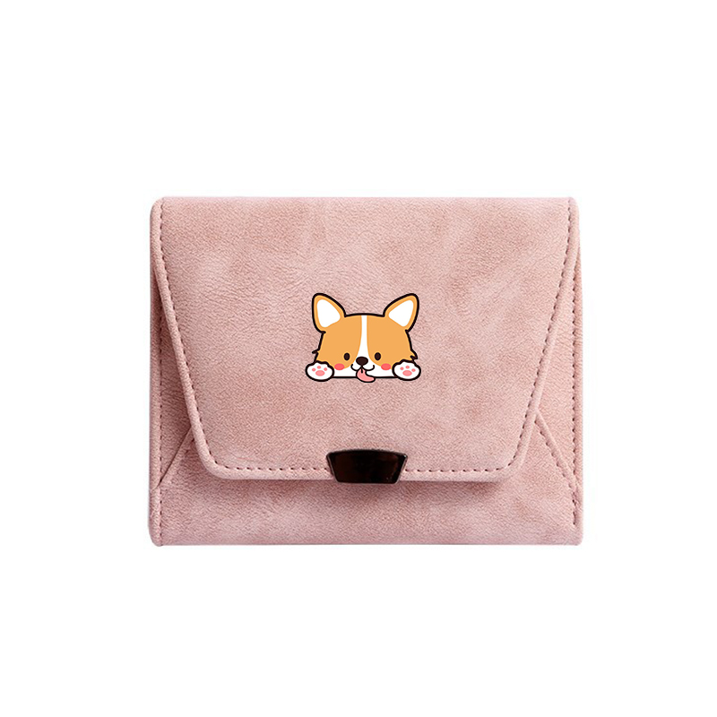 Women Small Shiba Inu Wallets Cute Corgi Design PU Leather Female Wallet Short Ladies Purses For Money Card