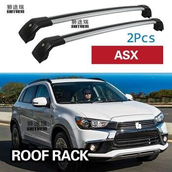SHITURUI 2Pcs Roof Bars for Mitsubishi ASX   5 Door SUV 2010-2019 Aluminum Alloy Side Bars Cross Rails Roof Rack Luggage