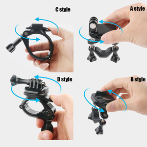 Image 4 - Draaibaar Bike Fietsstuur Mount Houder Adapter Motorbike Clip Ondersteuning Beugel Voor Gopro Hero 9 8 7 6 5 4 3 + 3 Sjcam
