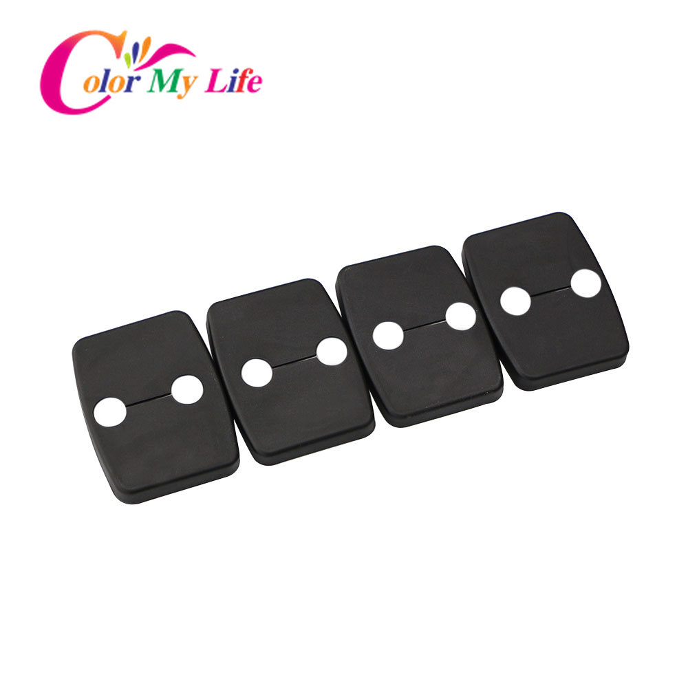 Color My Life 4Pcs/Set Car Door Lock Protective Cover For BMW 1 2 3 4 5 Series X1 X3 X4 X5 2000 - 2012 Accessories