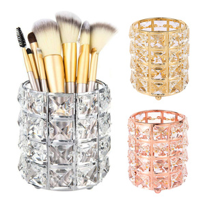Модная коробка для хранения кистей для макияжа, трубка для хранения карандашей для бровей, органайзер для макияжа, прозрачные ювелирные руч...