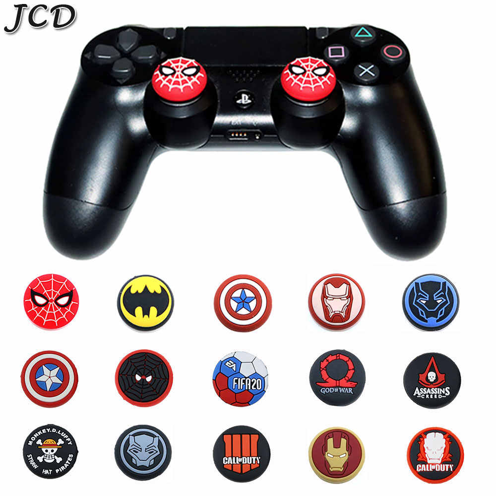JCD 2PCS Thumb Stick Grip Cap Thumbstick Joystick Cover Case For Sony PS3 PS4 Pro Slim Xbox One 360 Switch Pro Controller