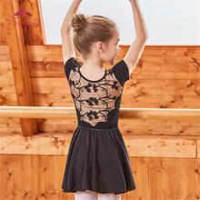 Dance Bodysuit Practice-Clothes Leotard-Girls 3d-Flower Kids Ballet Black New Summer