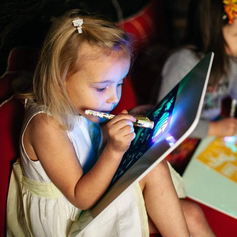 A3 A4 A5 Light Luminous Drawing Board Kids Toy Tablet Draw In Dark Magic With Light-Fun Fluorescent Pen Children New Year's Gift