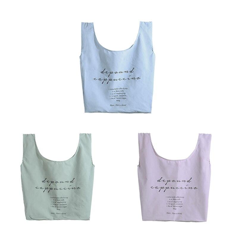 2020 New Portable Portable Shopping Bag Reusable Foldable Nylon Waterproof Shopping Bag Outdoor Portable Fashion shipping Bag