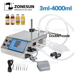 Bomba de control digital eléctrica ZONESUN, máquina de llenado de líquidos, pequeña botella de 0,5-4000ml para Perfume, agua, jugo, aceite, Alcohol
