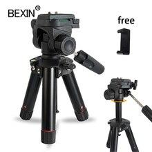 سطح المكتب اطلاق النار كاميرا ثلاثية صغيرة حامل الهواتف الذكية جبل حامل ثلاثي الأبعاد رئيس ترايبود للسفر كاميرا dslr