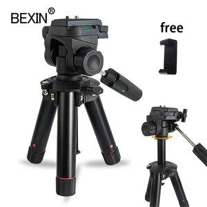 Image 1 - Masaüstü çekim mini tripod kamera akıllı telefonlar standı montaj tutucu üç boyutlu kafa tripod dslr kamera için seyahat