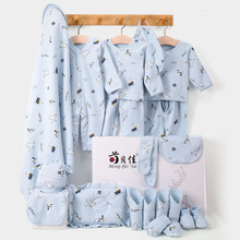 New Four Seasons Newborn Clothing Soft Combed Cotton Cartoon Printing Full Moon Kids Sets Boy Girl Costume Without Box XB159