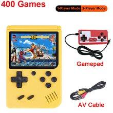 400 em 1 3 Polegada consolas de jogos handheld retro console de jogos de vídeo 8 bits jogador de jogo handheld jogadores gamepads para crianças presente