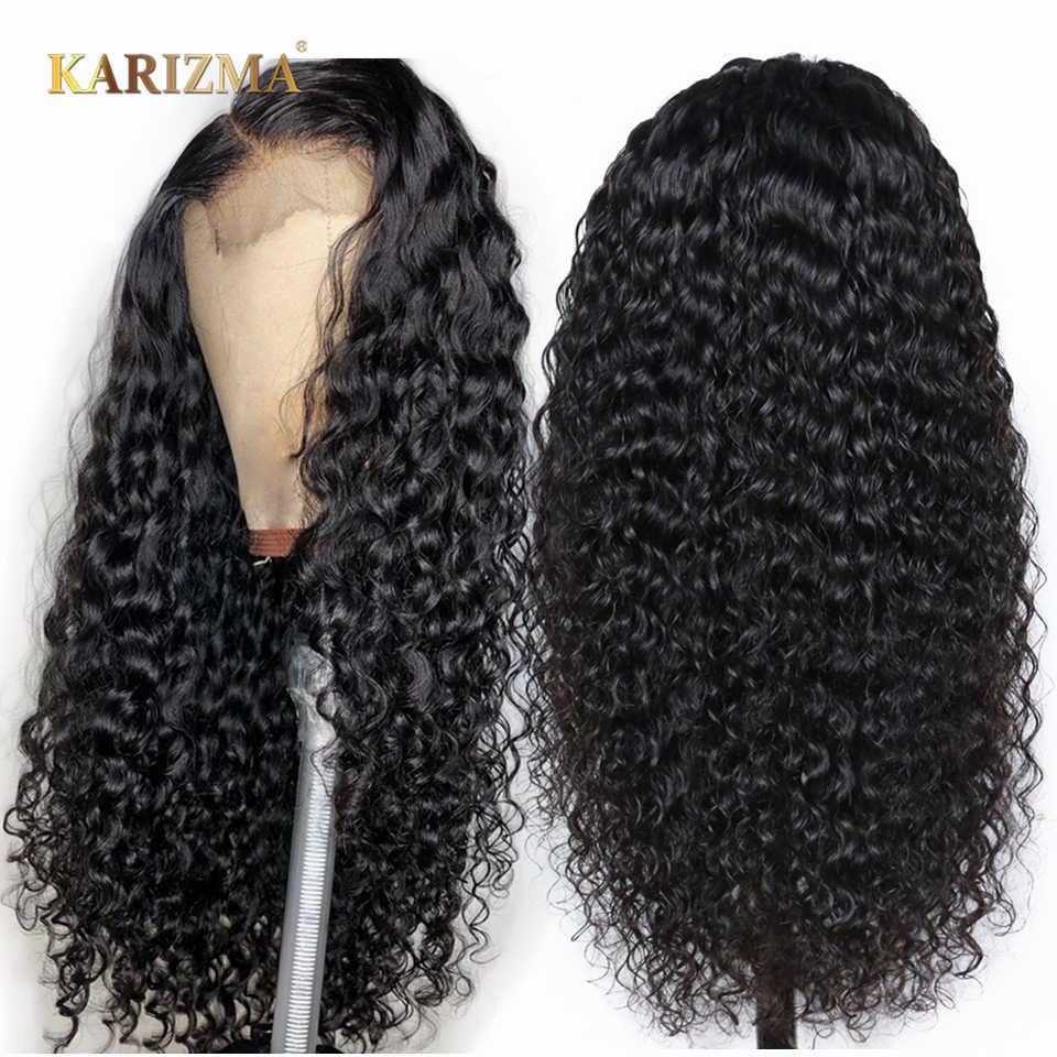 Pelucas rizadas con cierre de encaje, pelucas de pelo humano para mujeres negras, pelucas de pelo humano rizado 4x4 brasileño sin pegamento