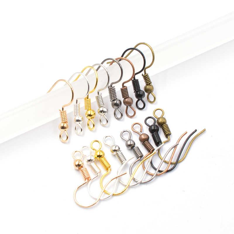200 Stk Ohrring Draht Ohrringe Zubehör für Schmuck herstellung Gold