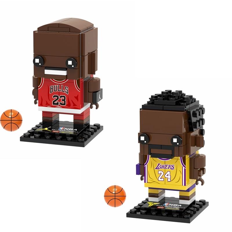 2020 Collection Basketball Sports Star Kobe Bryant Brick Heads Figures Compatible Brickheadz Building Blocks Toys For Kid
