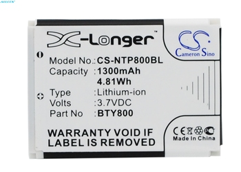 Cameron Sino 1300mAh Battery BTY800 for CipherLab 8000, 8200,8300,CPT-8300, For Newland NLS-PT800,NLS-PT850,NLS-PT850B,NLS-PT853 image