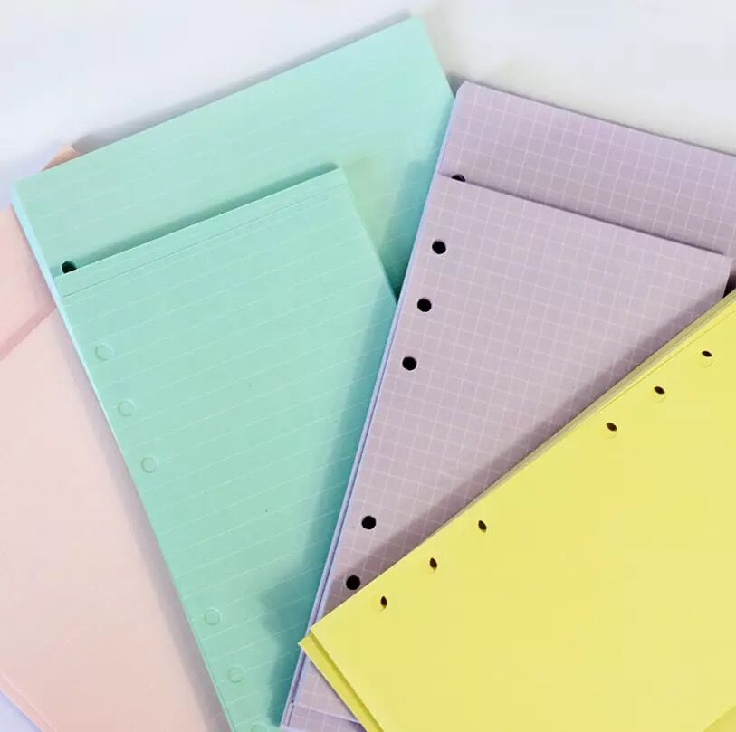 40 Sheets Kawaii A5 A6 Loose Leaf Notebook Refill Spiral Binder Index Paper Inner Pages Daily Planner Line Grid Blank Agenda