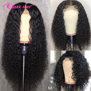Brazilian Wig 4x4 Lace Closure Wig Kinky Curly Human Hair Wig Preplucked Human Hair Wigs for Black Women Non-Remy Jazz Star Hair(China)