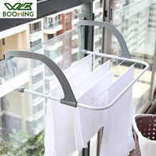 WBBOOMING Metal+Plastic Drying Racks Hotel Towel Cloth Rack Portable Foldable Drying Rack Clothes Punch Free Hanger Home Use