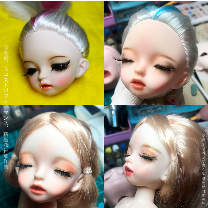 New 28cm Bjd Doll 22 Ball Joint Doll Sleeping Eye Naked Baby Dolls Head Body Normal Skin Doll DIY Makeup Dolls Toys For Girls