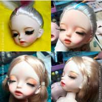 New 28cm Bjd Doll 22 Ball Joint Doll Sleeping Eye Naked Baby Dolls Head Body Normal Skin Doll DIY Makeup Dolls Toys for Girls