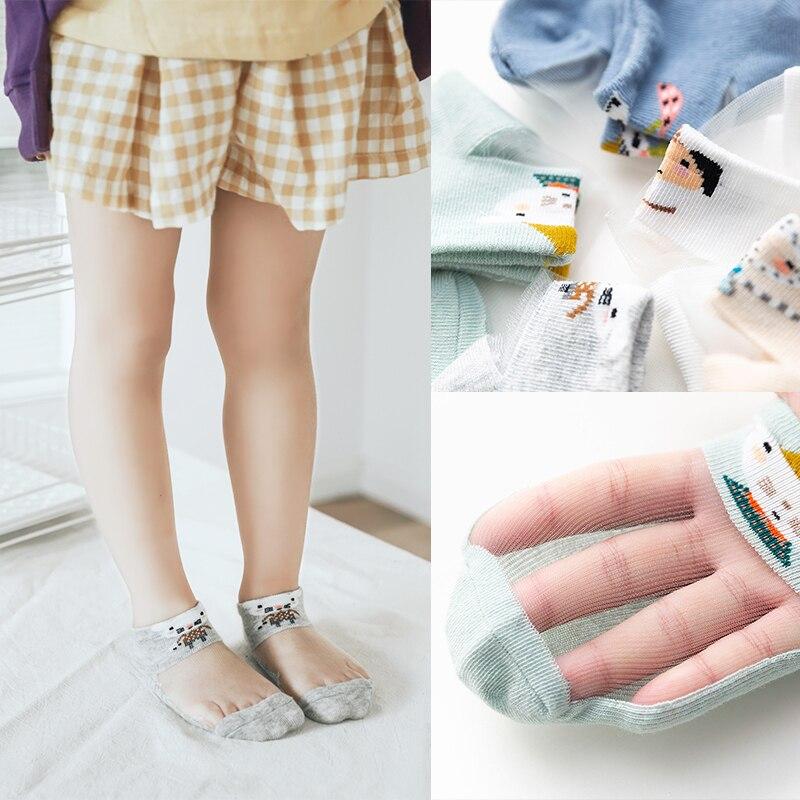 e meninas meias curtas com estampa de desenho animado 02