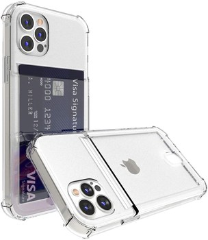 Shockproof Transparent Phone Case For iPhone 12Mini 12 11 Pro Max X XS XR 7 8 Plus SE 2 Soft Silicone Wallet Cover Card Holder 1