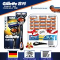 Бритва для мужчин, лезвие для бритвы Gillette Fusion Proglide, Сменное лезвие для бритья, лезвия для бритья, дорожный набор крючков