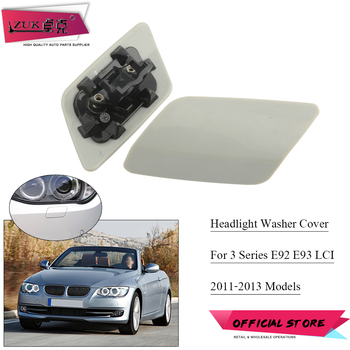 MTAP Front Head lamp Water Spray Cover Lid Cap Shell Unpainted For BMW 2010-2013 E92/93 LCI 320 325 330 335 Coupe Convertible image