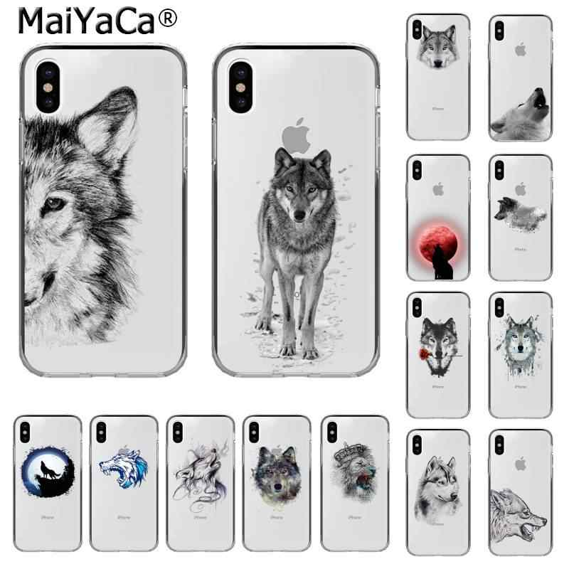 MaiYaCa Animal Wolf Custom Photo Soft Phone Case for iPhone 11 pro XS MAX 8 7 6 6S Plus X 5 5S SE XR cover